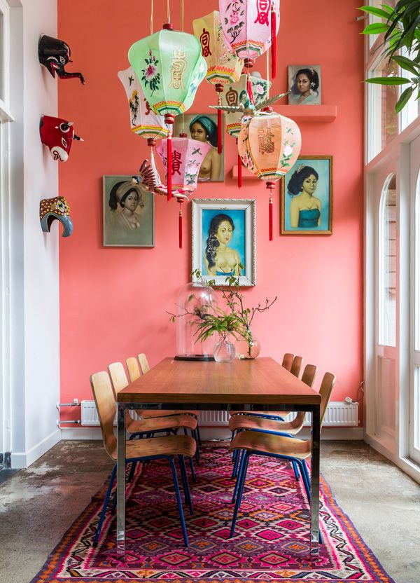 pantone living coral interior decor (2)