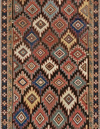 Antique Karabagh Pinkish Brown Handwoven Wool Rug BB7095