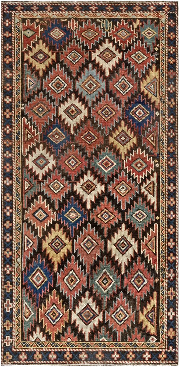 Colorful Geometric Handwoven Wool Rug