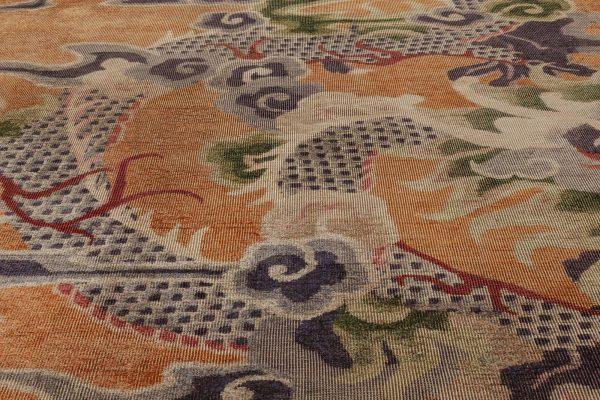 Antique Silk Chinese Rug BB6964