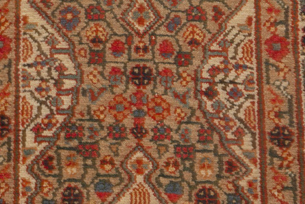 Persian Hamadan Carmine, Beige, Teal, Hazelnut and Rosewood Runner BB6987