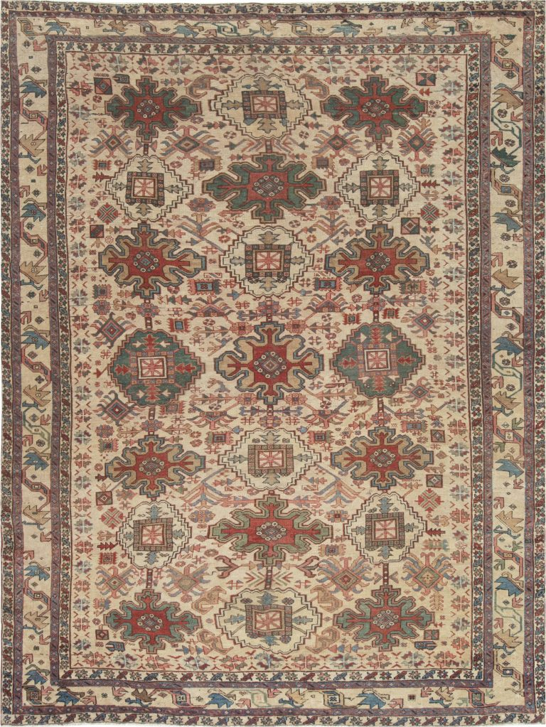 Antique Persian Heriz Rug Bb6988 By Dlb