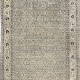 Persian Tabriz Handmade Wool Rug in Beige, Blue, Gray BB6965