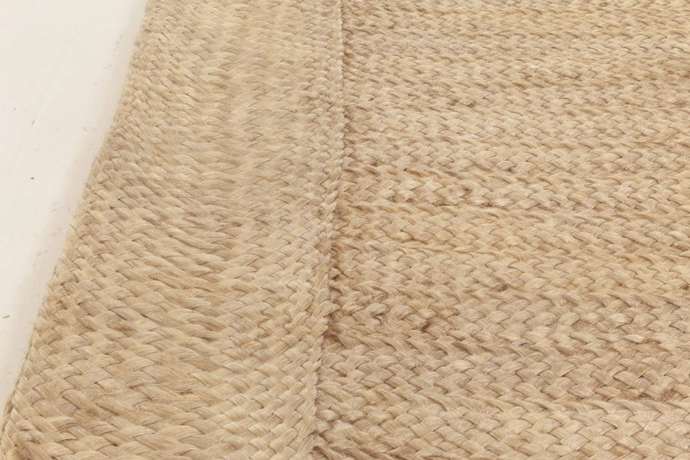 Oversized Contemporary Beige Abaca Rug N11996