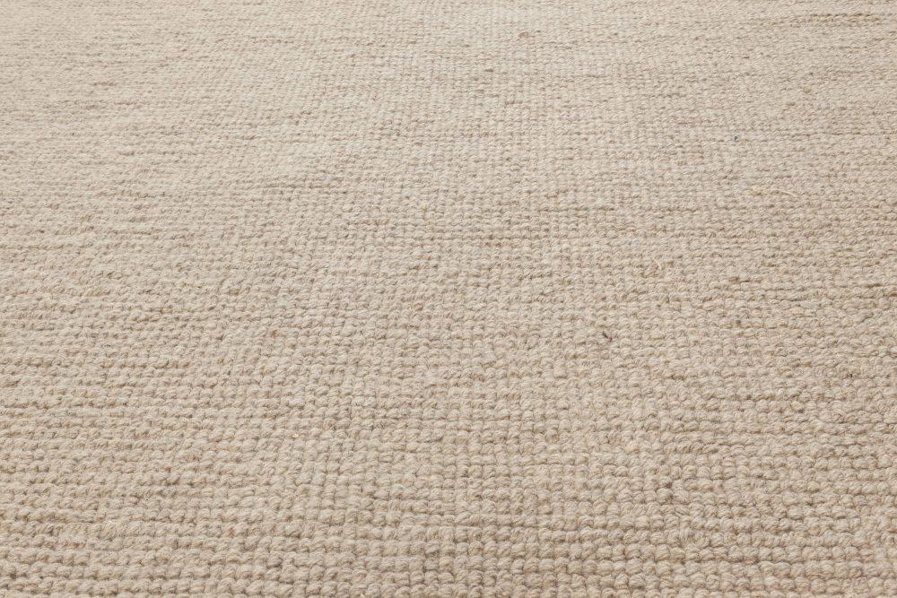 Modern Warm Peach & Beige Flat Weave Wool Rug N11988