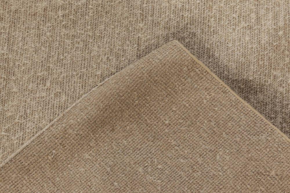 Modern Brown Flat Weave Wool Rug N11993