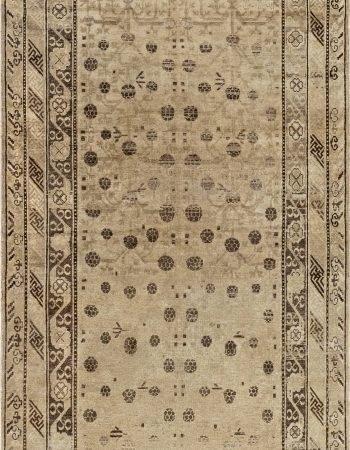 Rocky Peaks Silk and Wool Rug in Beige and Grey N12064