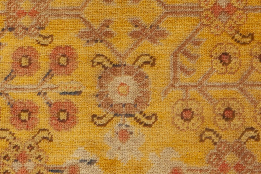 Samarkand Warm Caramel, Camel, Beige and Brown Handwoven Wool Rug BB6981