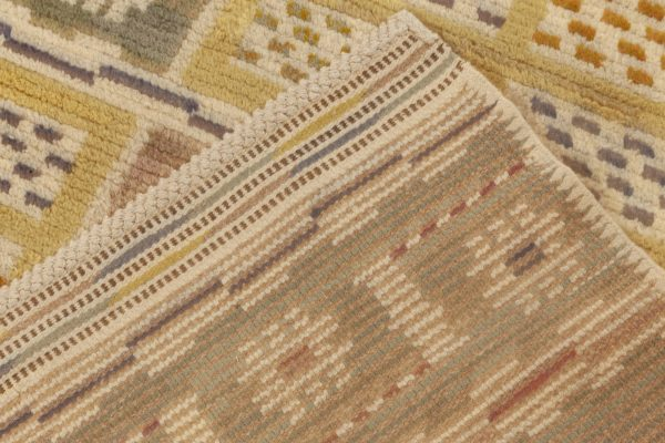 Vintage Swedish Pile weave Rug by Marta Maas-Fjetterstrom BB6984