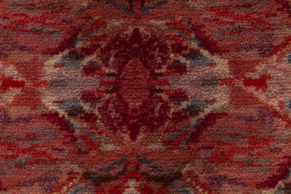 Mid-Century Modern Scandinavian Rug in Shades of Pink and Grey BB6967