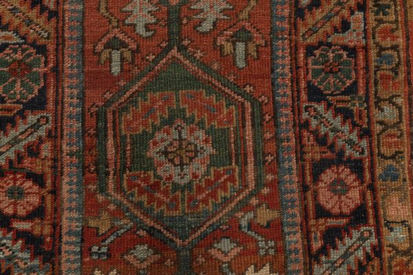 Antique Persian Heriz Runner BB7006