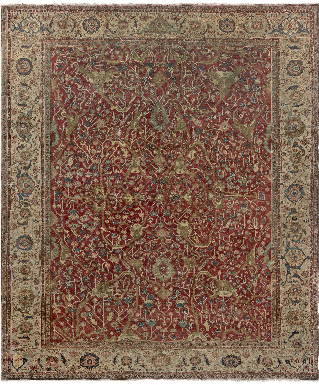Antique Persian Serapi Rug BB7011