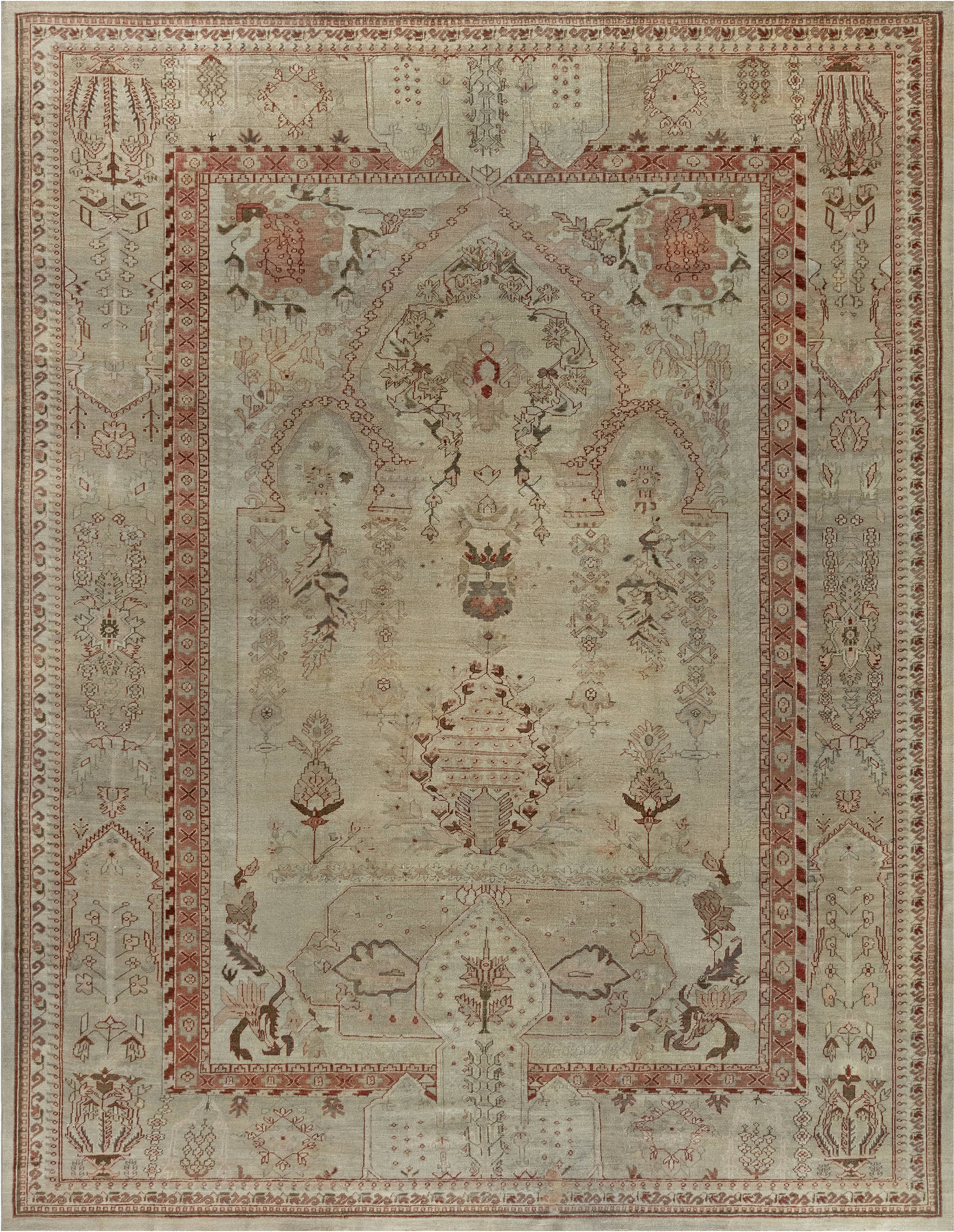 Antique Turkish Oushak BB7013
