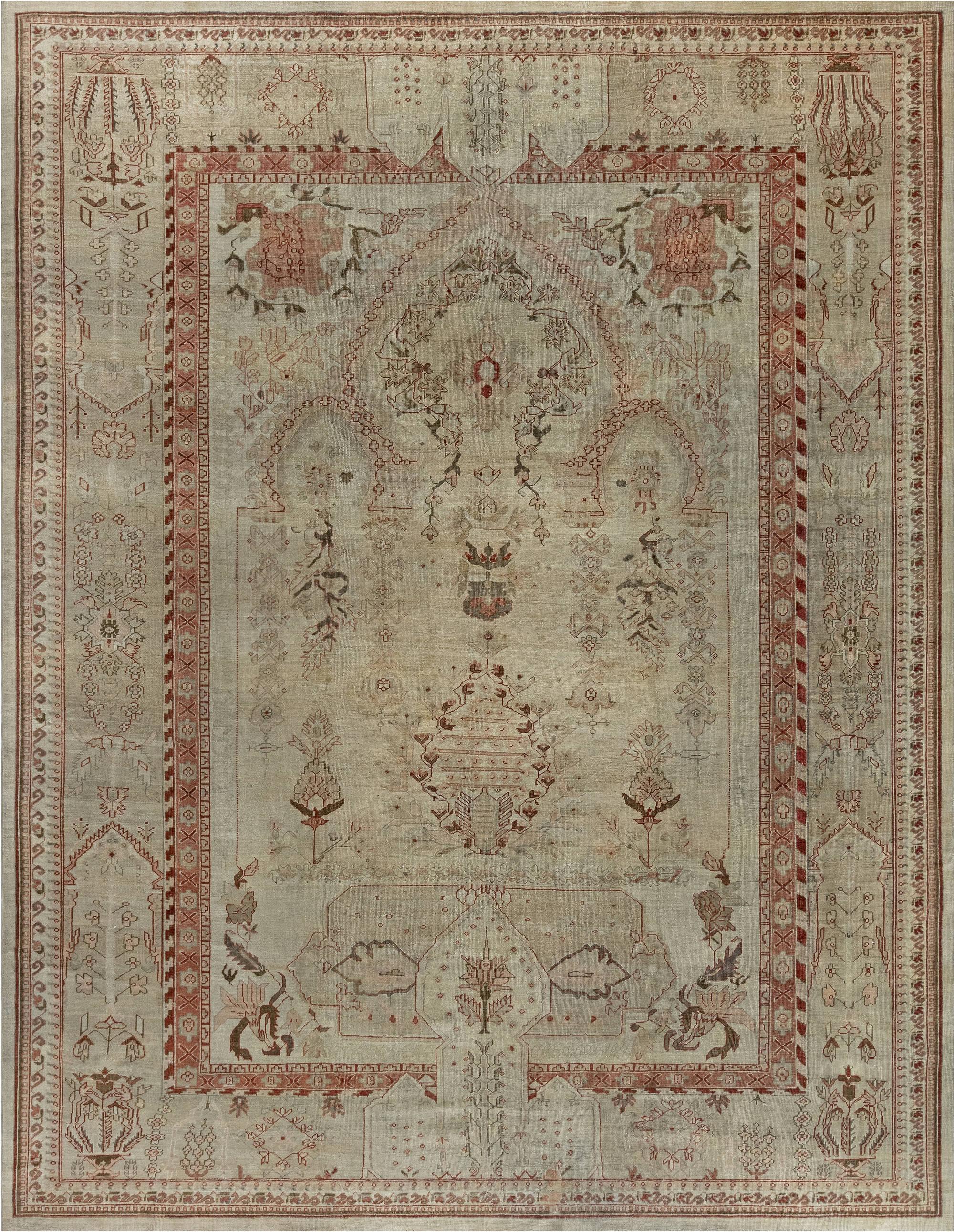 Antique Turkish Oushak BB7013