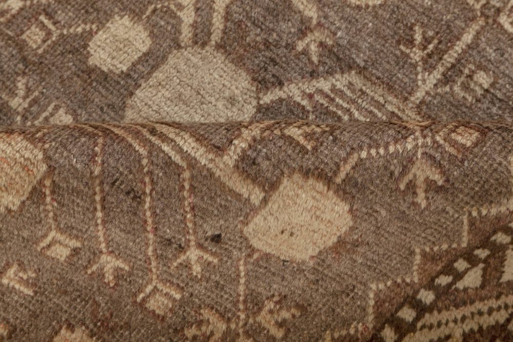 Samarkand Handmade Wool Rug in Beige, Brown and Purple BB7003