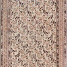 Persian Mashad Handwoven Wool Rug in Beige, Blue, Green and Orange BB7014
