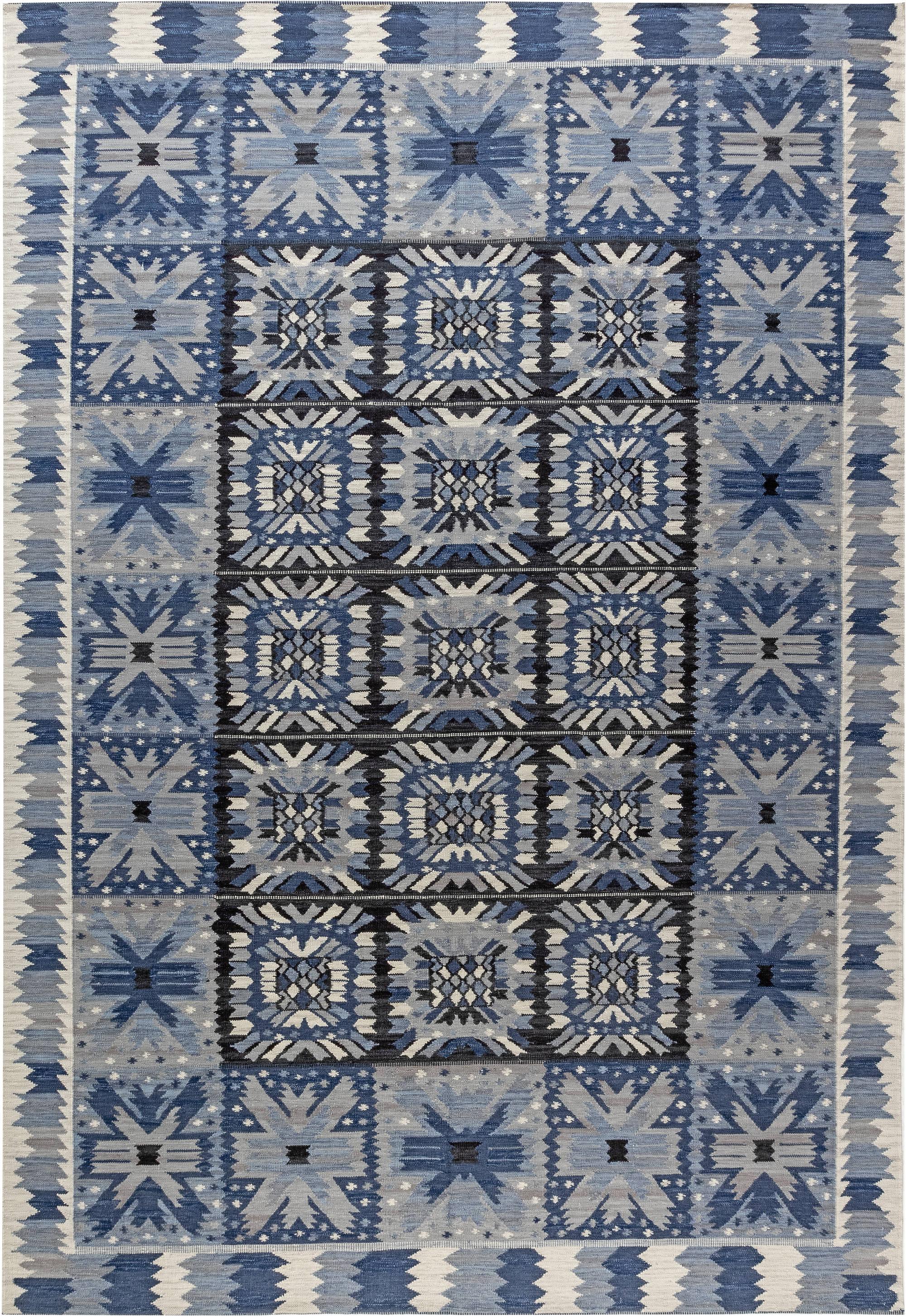 Swedish Flat weave Rug N12029