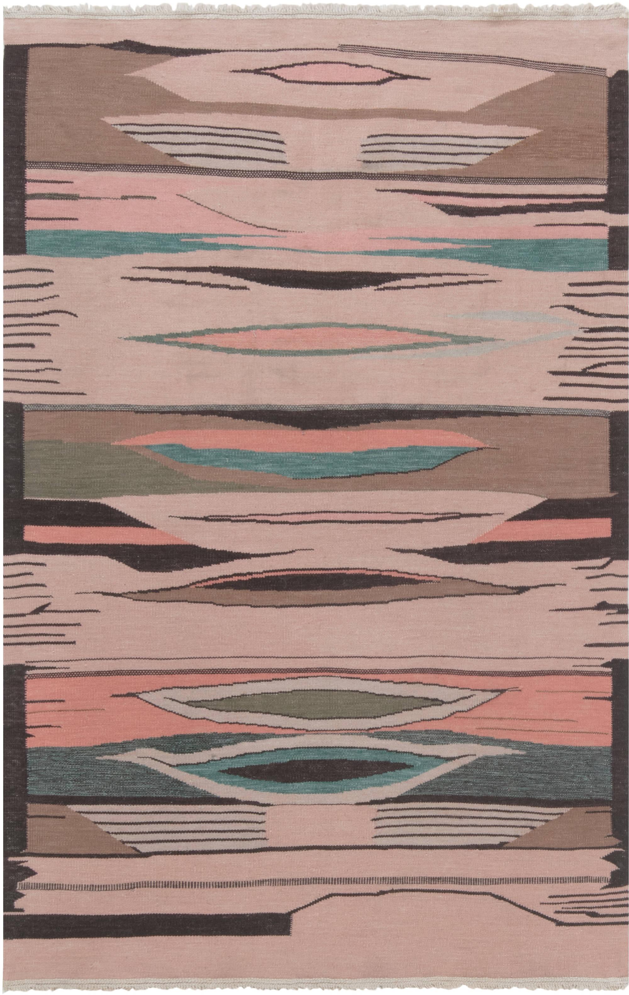 Swedish Flat weave Rug N12039