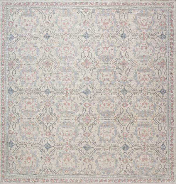 Traditional Inspired Oushak Design Rug N12038