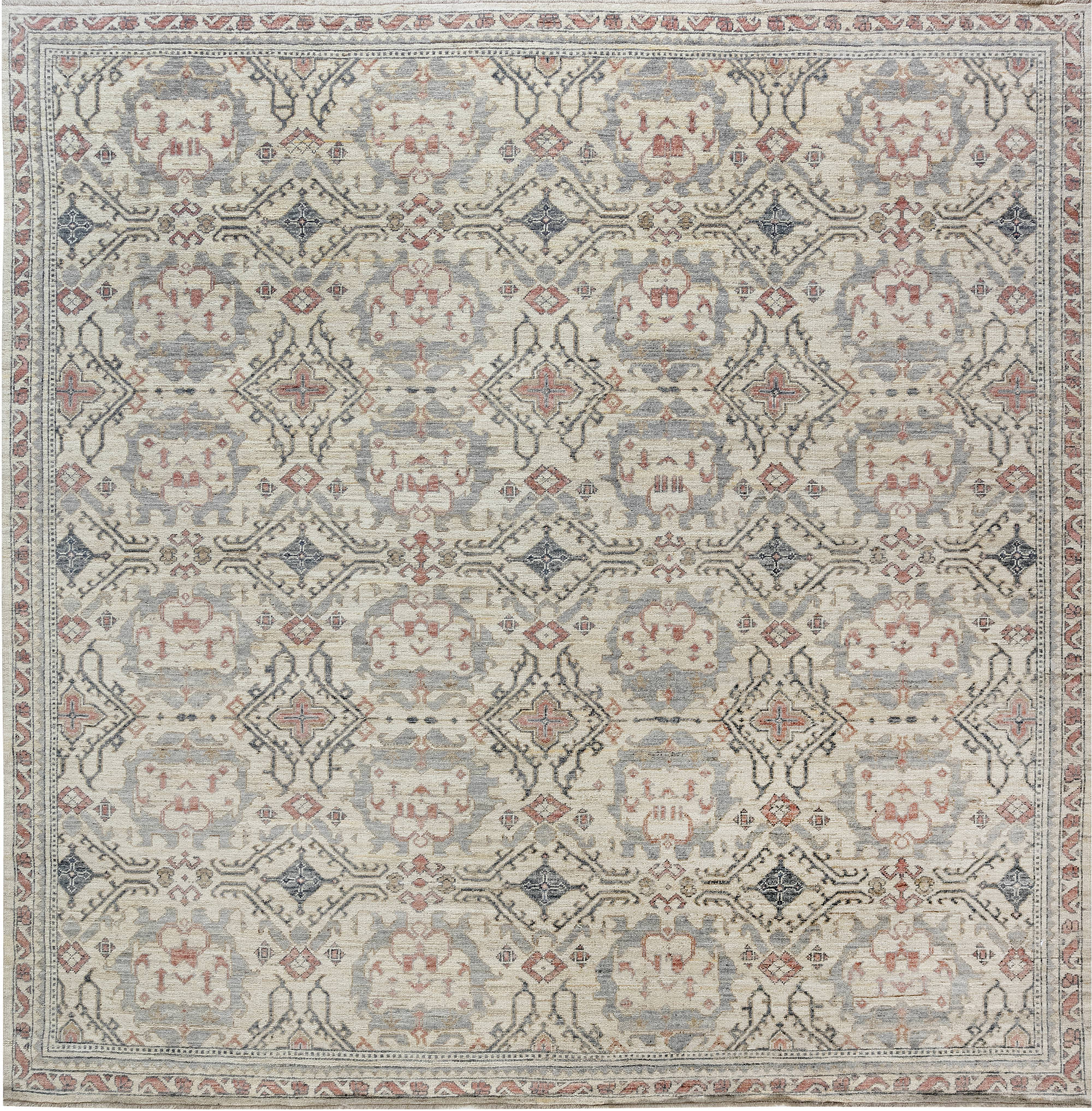 Traditional Inspired Oushak Design Rug N12038