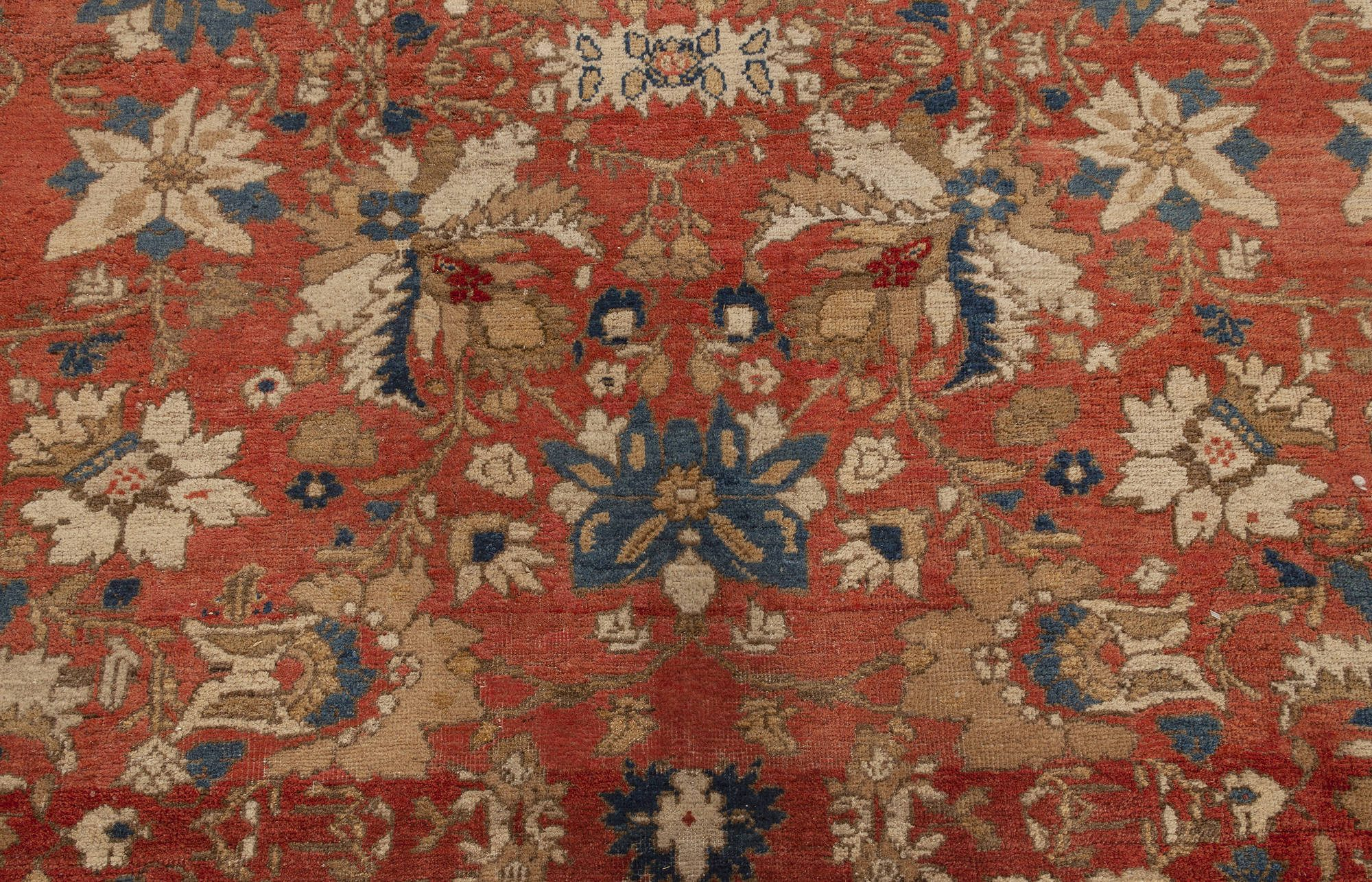 Antique Persian Sultanabad Red Wool Rug BB7026