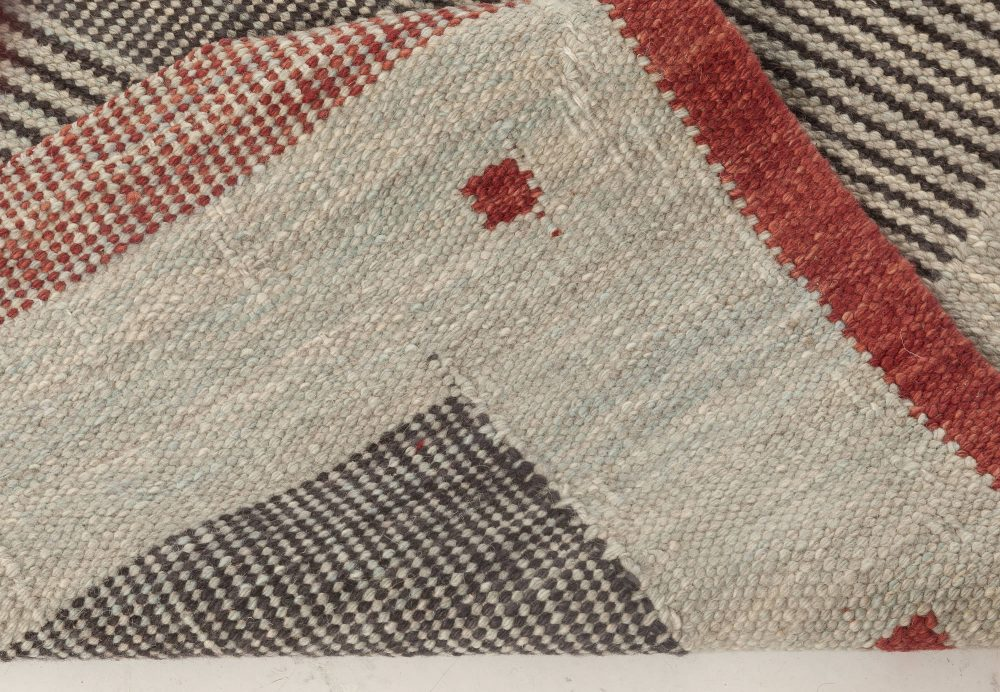 Swedish Flat Weave Rug N12055