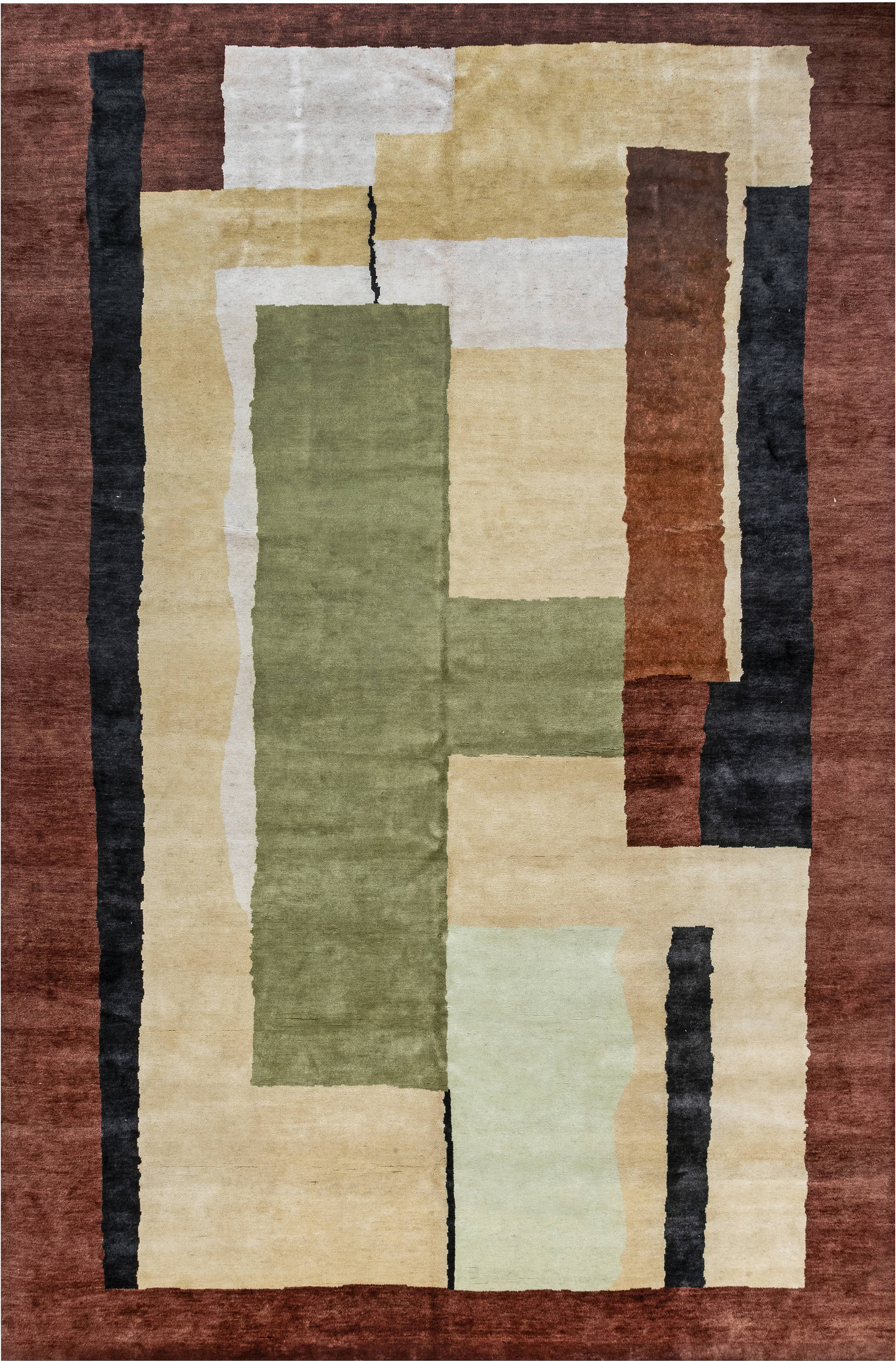 Vintage French Art Deco Rug BB7029