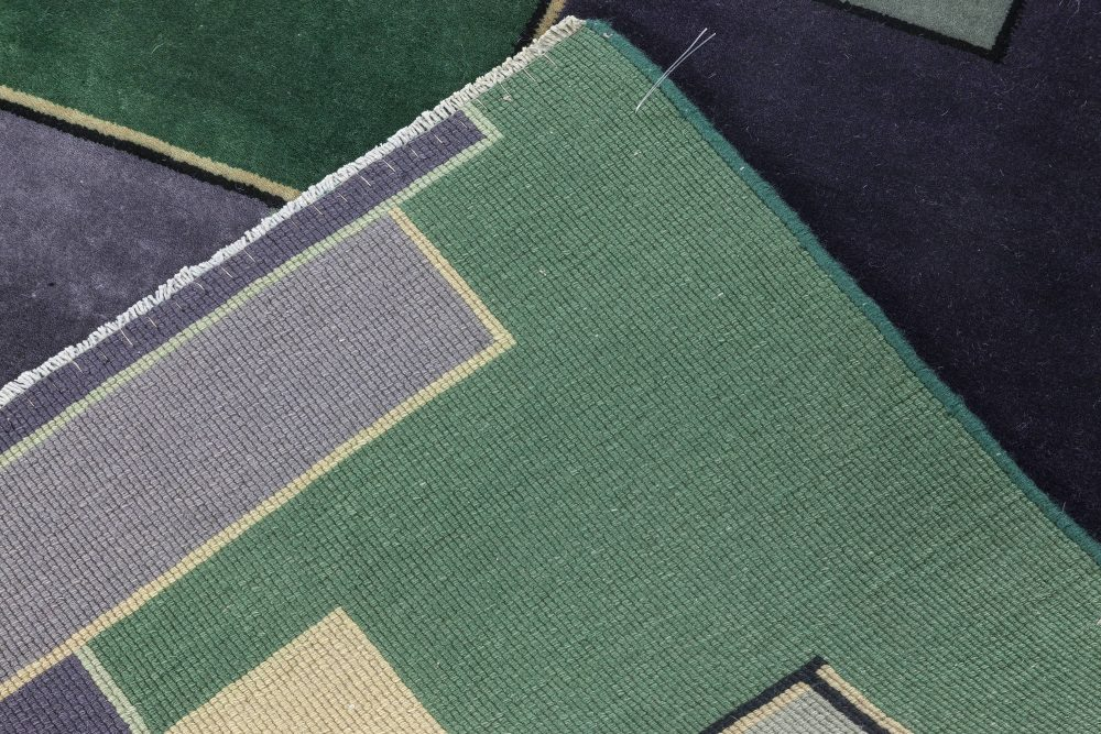 Vintage Chinese Deco rug BB7036