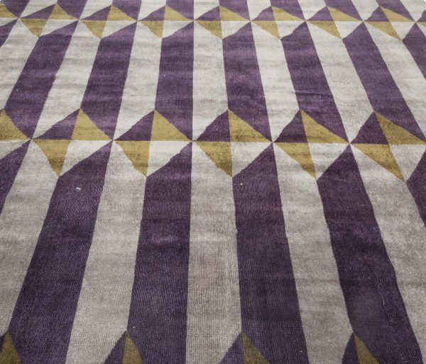 Vintage French Deco Rug BB7038