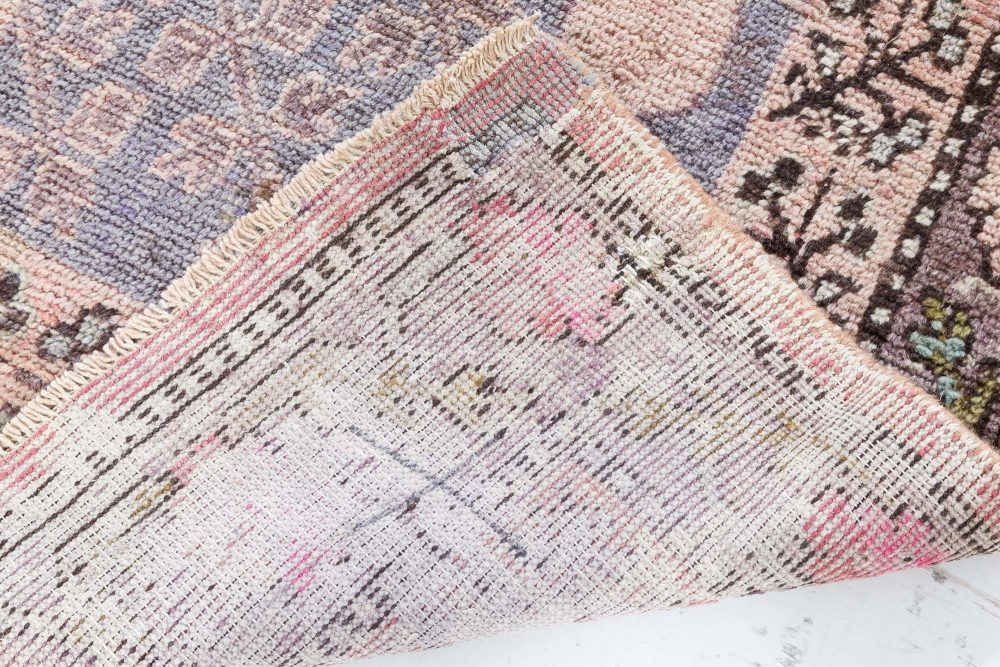Samarkand Purple, Pink and Light Blue Handwoven Wool Rug BB7045
