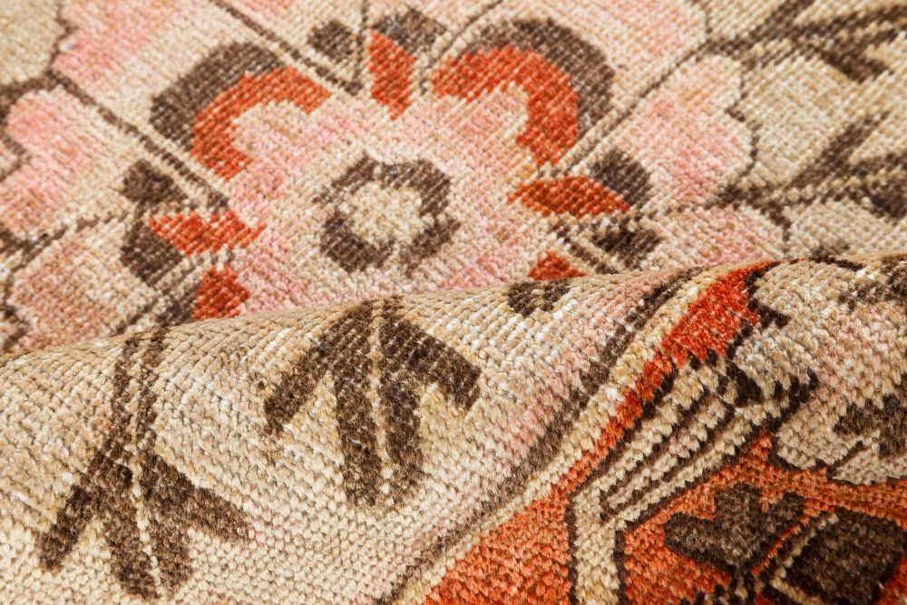 Vintage Samarkand Rug in Sand, Terracotta and Dusty Pink BB7046