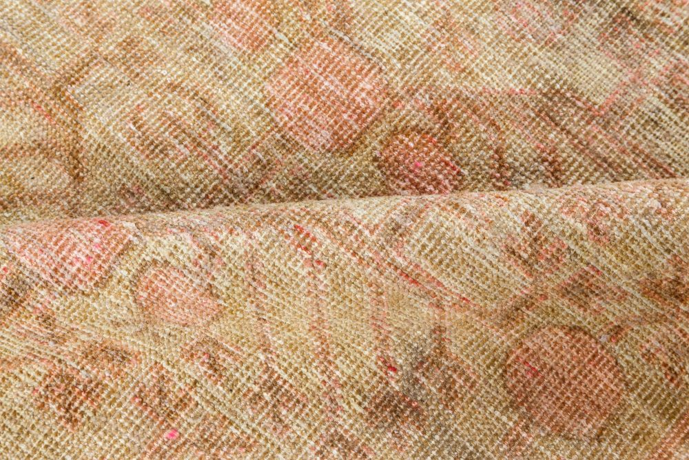 Samarkand Light Gray, Beige, Brown and Pink Hand Knotted Wool Rug BB7047