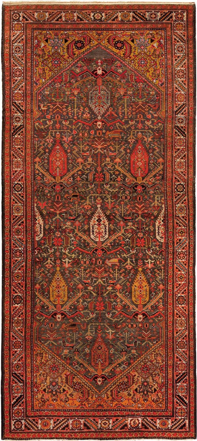 """Dughi – The """"Living Coral"""" of Antique Sarouk Rugs"""