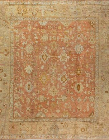 Antique turca Oushak Alfombra BB7057