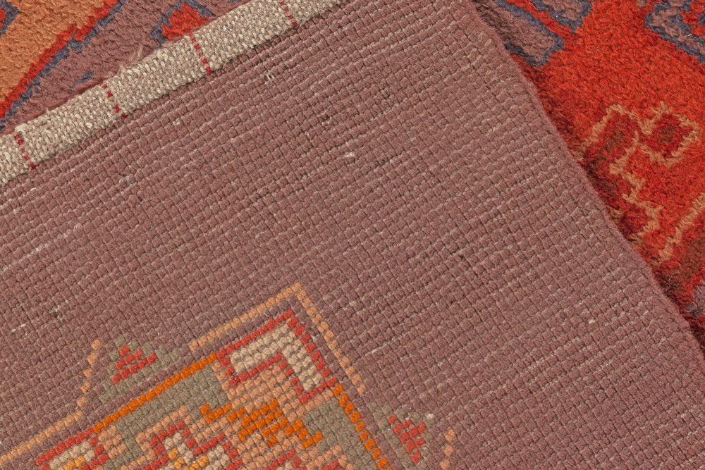 Dutch Art Deco Purple, Beige, Burgundy and Orange Rug by Jaap Gidding BB7065