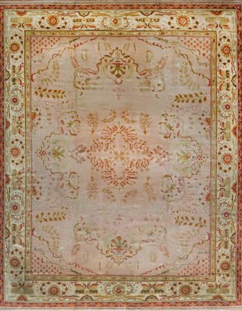 Antique Turkish Oushak Rug 26894