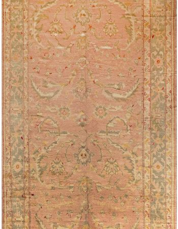 Antique Turkish Oushak Rug 28892
