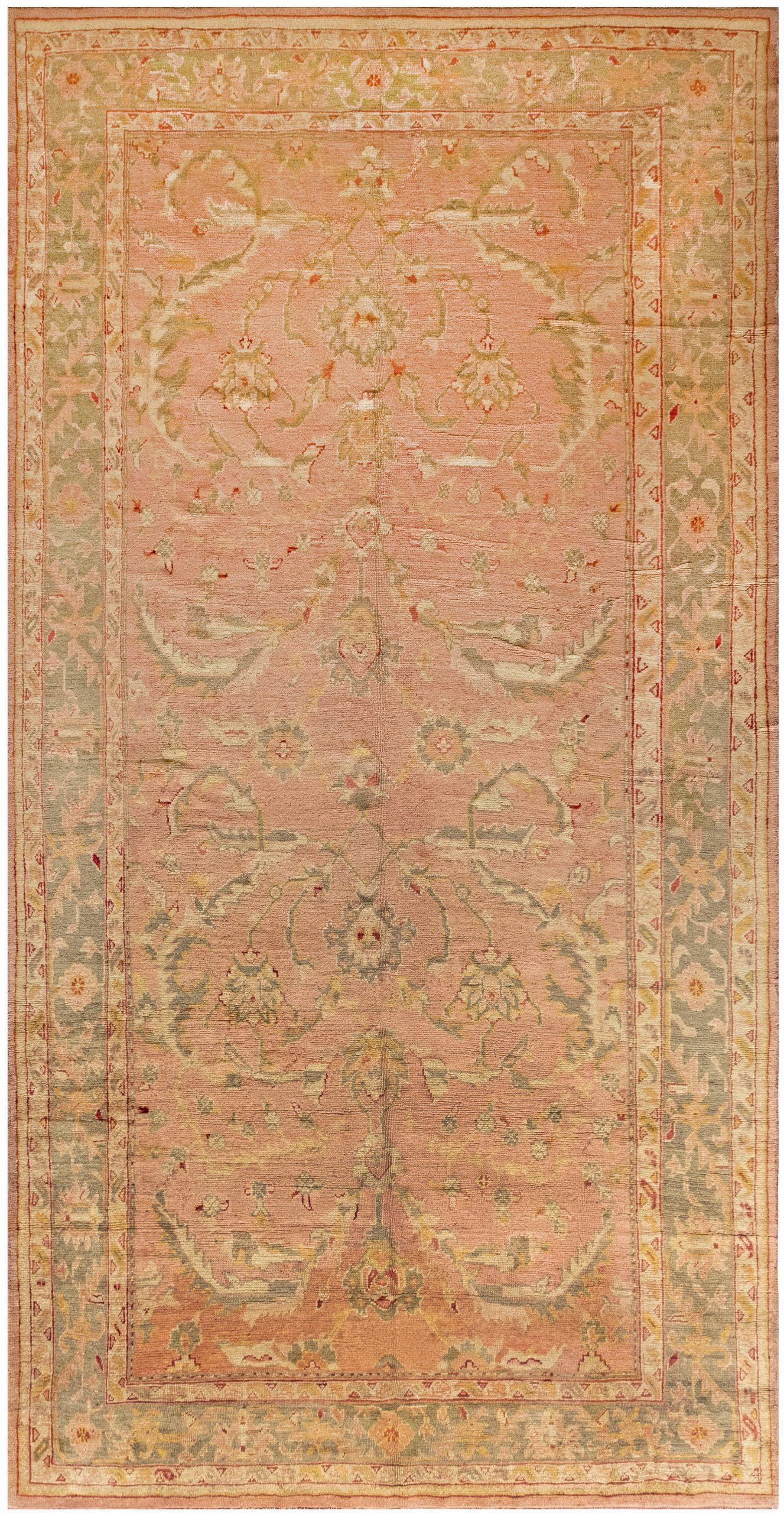 Antique Turkish Oushak Rug 28892