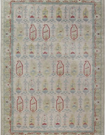 Traditional Oushak Design Rug N12085