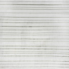 Modern High-Low Dusty Green and White Flat-Weave Wool and Silk Rug N12097