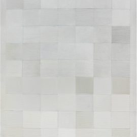 Hair on Hide Contemporary Beige and White Rug N12108