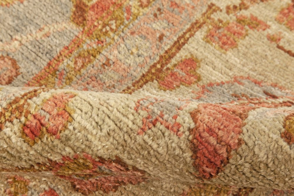 Oriental Inspired Rug in Pink, Orange, Red, Gold, Brown and Green N12110