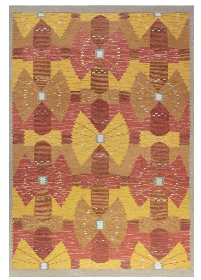 Swedish Flat Weave Rug N12112 by DLB