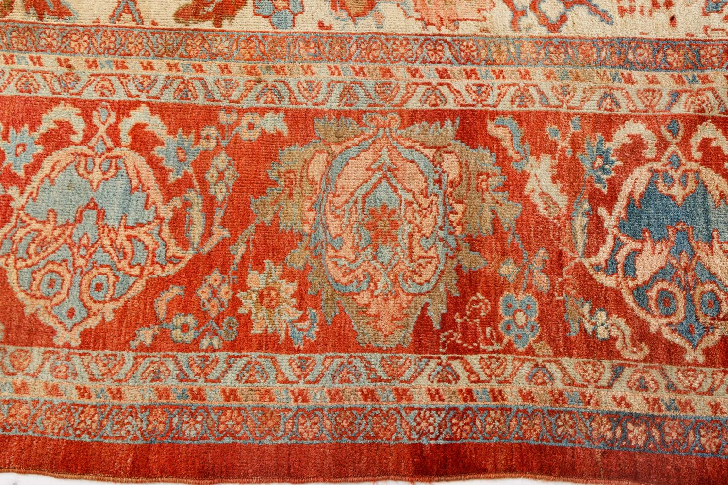 Sultanabad Beige, Blue, Brown, Pink and Red Rug (Size Adjusted) BB7145