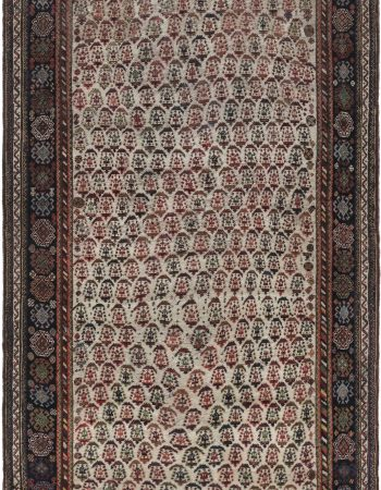 Modern Moroccan Beige, Brown & Pink Hand Knotted Wool Rug N12127