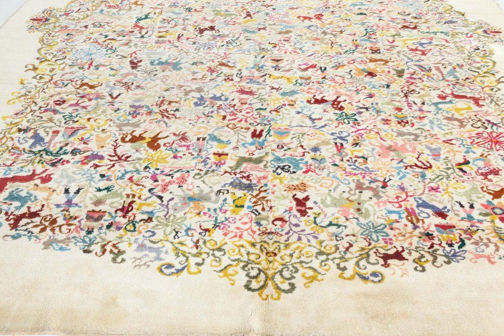 Mid century Olga Fisch Colorful Carpet Caceria (The Hunt) BB7164