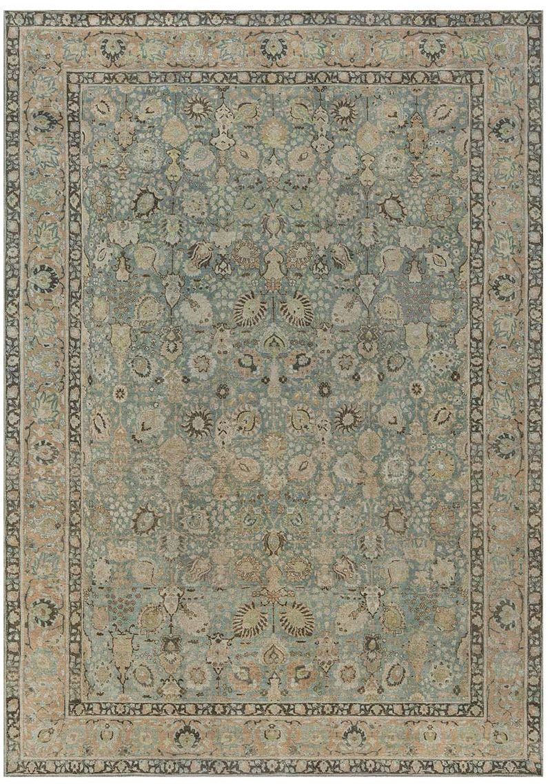 Antique Persian Tabriz Rug BB7346 by DLB