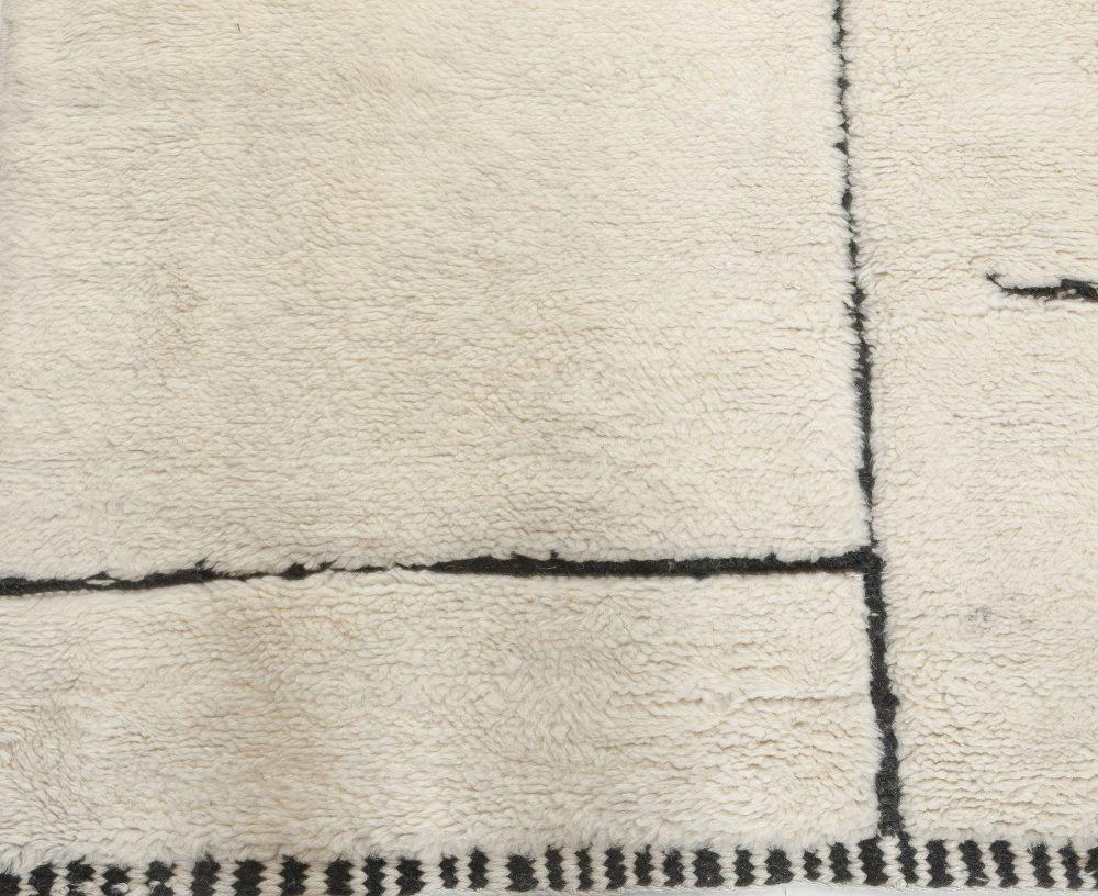 Tribal Style Modern Moroccan Wool Area Rug N12124