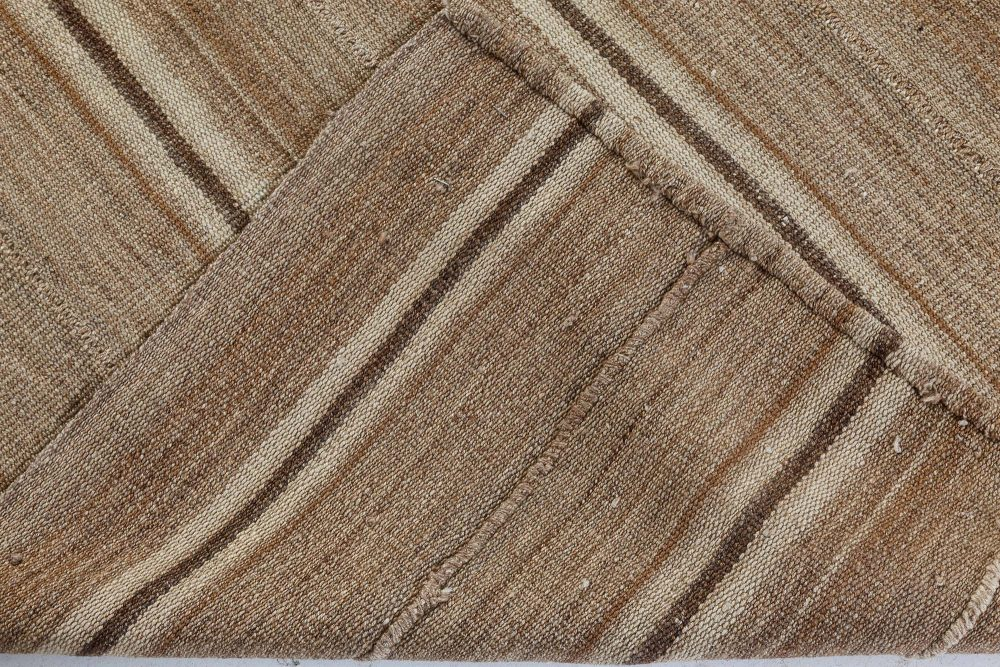 Persian Kilim Rug in Shades of Beige, and Brown BB7300