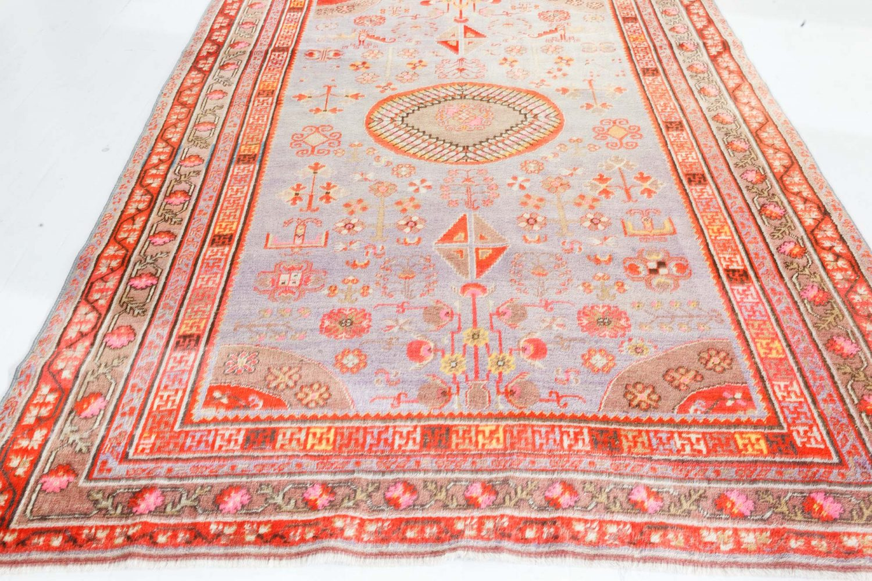 Samarkand Brown, Gold, Orange, Pink, Purple & Red Handwoven Wool Rug BB7341